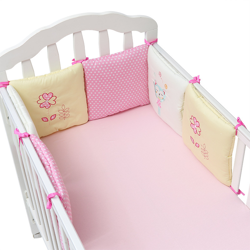 6pcs Baby Crib Bumper Infant Cot Safety Protector Cushion