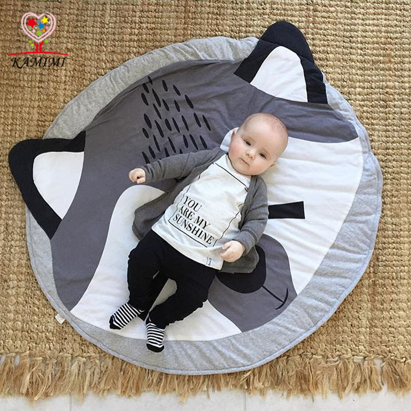 Soft Cotton Kids Baby Infant Play Crawl Game Cartoon Mat